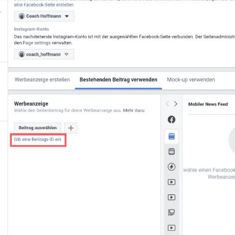 facebook beitrags id einfügen