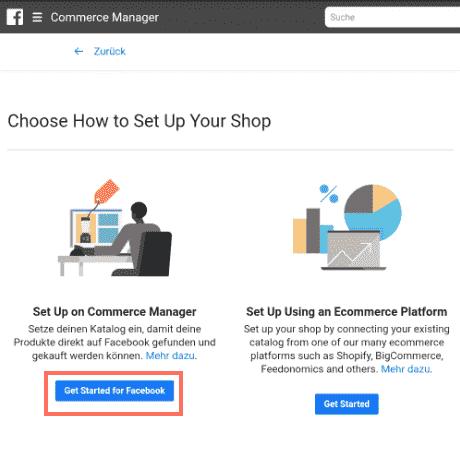 commerce manager einrichten